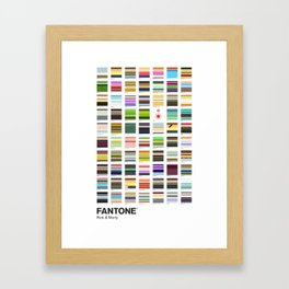 Sanchez & Smith - FANTONE® Collection Framed Art Print