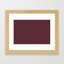 Pantone 19-1725 Tawny Port Framed Art Print