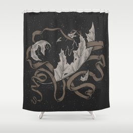 Night falling  Shower Curtain