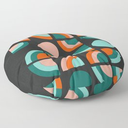Spiffy - 70's retro throwback minimal geometric trendy colors art 1970s Floor Pillow