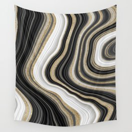 Gold Agate Wall Tapestry