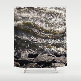 Torrent river Shower Curtain