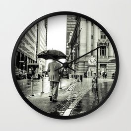 Wet Pavement NYC Wall Clock