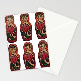 Nesting doll pattern Stationery Cards