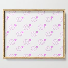 Elephant Love Serving Tray