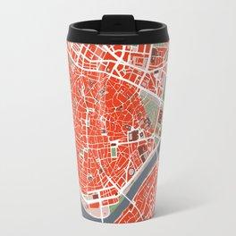 Seville city map classic Travel Mug