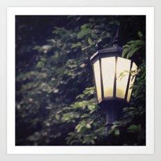 Overgrown Lamp Art Print