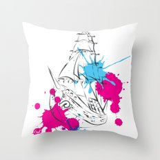 out boat Throw Pillow