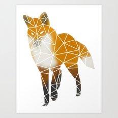 Foxy - Fire Art Print