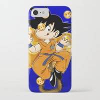 goku iPhone & iPod Cases featuring Goku by Ana del Valle Store