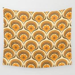 Orange  Daisy Dream Wall Tapestry