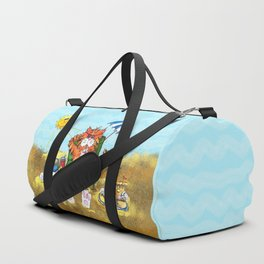 Cat at the Beach Duffle Bag