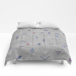 Cactus Silk Pattern in Grey Comforters