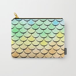Ombre Rainbow mermaid Carry-All Pouch