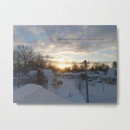 Light is Good (unedited) Metal Print