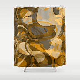 golden junkyard Shower Curtain