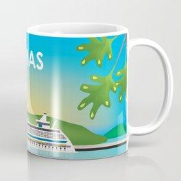 St. Thomas, U.S. Virgin Islands - Skyline Illustration by Loose Petals Coffee Mug