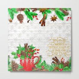 Christmas pine cones #1 Metal Print
