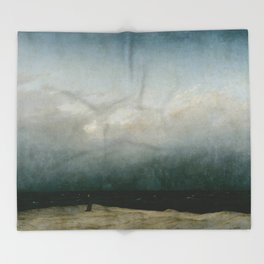 Caspar David Friedrich - The Monk by the Sea Throw Blanket