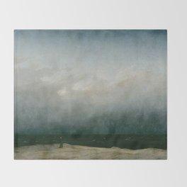 Caspar David Friedrich - The Monk by the Sea Throw Blanket
