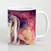 spock Mugs featuring Spock  by margaw