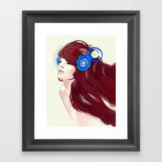 Blue flower. Framed Art Print