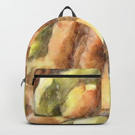 Leaves and Petals Autumn Abstract Watercolor Backpack