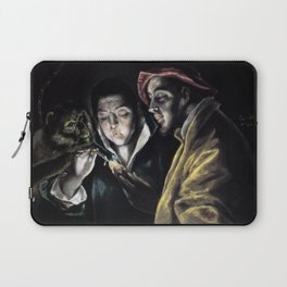 El Greco - An Allegory with a Boy Lighting a Candle in the Company of an Ape and a Fool (Fabula) Laptop Sleeve