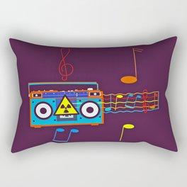 Radio Active musical waves Rectangular Pillow