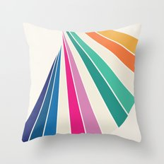 Fan of Color Throw Pillow