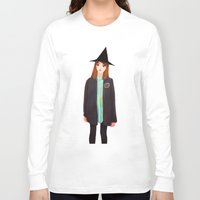 hermione Long Sleeve T-shirts featuring Hermione Granger by Lenas 9th Art