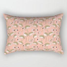 Flamingo Family // Peach Rectangular Pillow