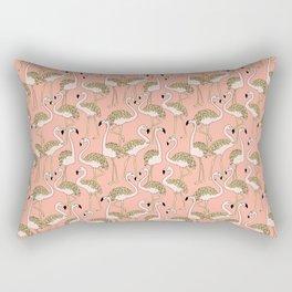 Flamingo Family // Peach Rectangular Pillow