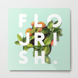 Flourish #society6 #buyart #typography #artprint Metal Print