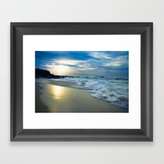 One Dream Sunset Hookipa Beach Maui Hawaii Framed Art Print