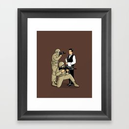 Serving in the Army Framed Art Print