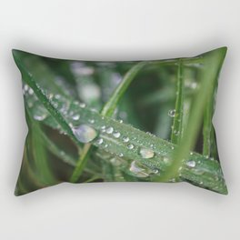 Grass Macro Rectangular Pillow