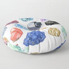 Rocks and Minerals I Floor Pillow