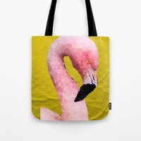 flamingo Tote Bags featuring Flamingo by Esco
