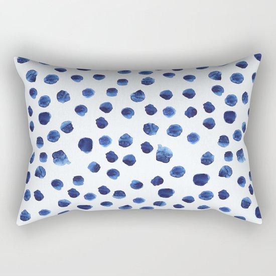 Blue brushstrokes Rectangular Pillow