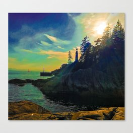 Lighthouse dreaming Canvas Print