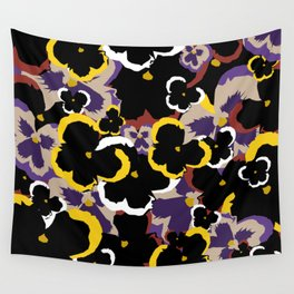 Pansy Love Wall Tapestry