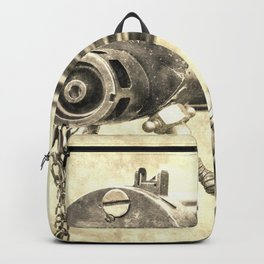 Vickers Machine Gun Vintage Backpack