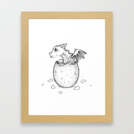 Welcome to the world little dragon! Framed Art Print