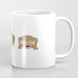 Monkey Emoji Row Coffee Mug