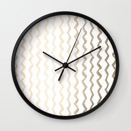 Golden Zigzag Wall Clock