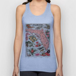 Vintage Map of Florida (1917) Unisex Tank Top