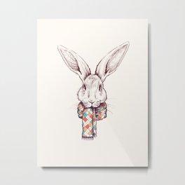 Bunny and scarf Metal Print