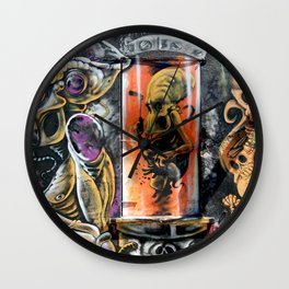 Alien Graffiti  Wall Clock