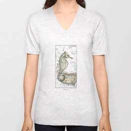 The Little Seahorse Unisex V-Neck